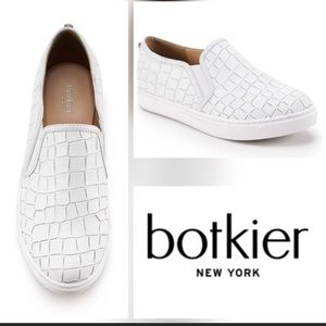 Botkier Hayley White Alligator Slip-on Sneakers